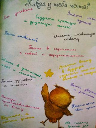 Личный-дневник - какая у тебя мечта
