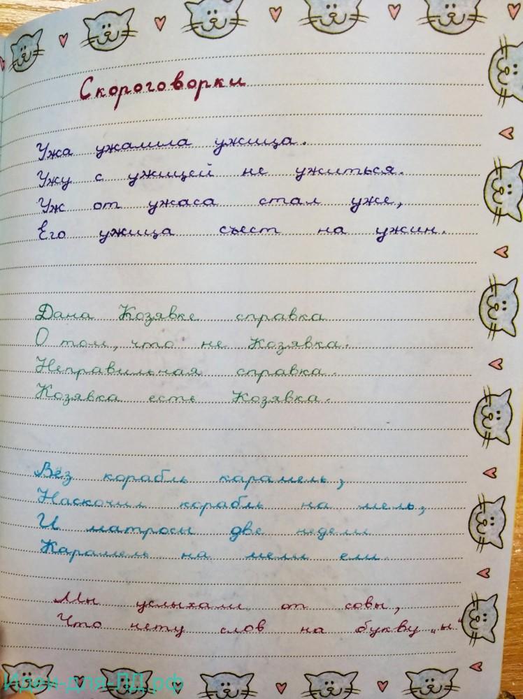 Личный-дневник - скороговорки