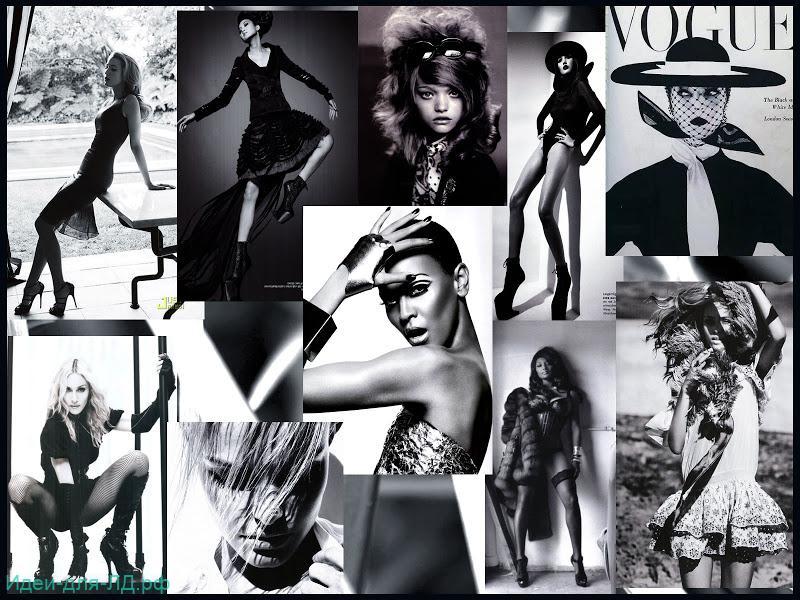 Фото знаменитостей. Черно-белые вырезки из журналов