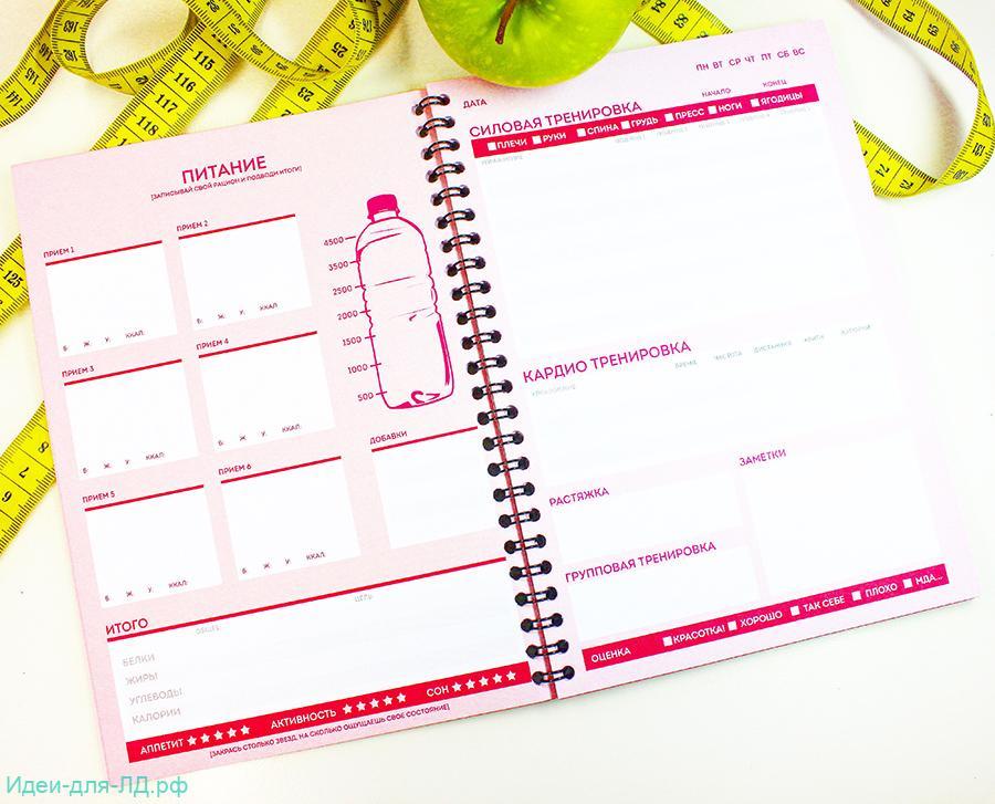 Личный дневник контроль веса и параметров