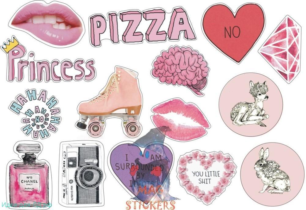 Стикеры для личного дневнкиа Красивые и классные для девочек